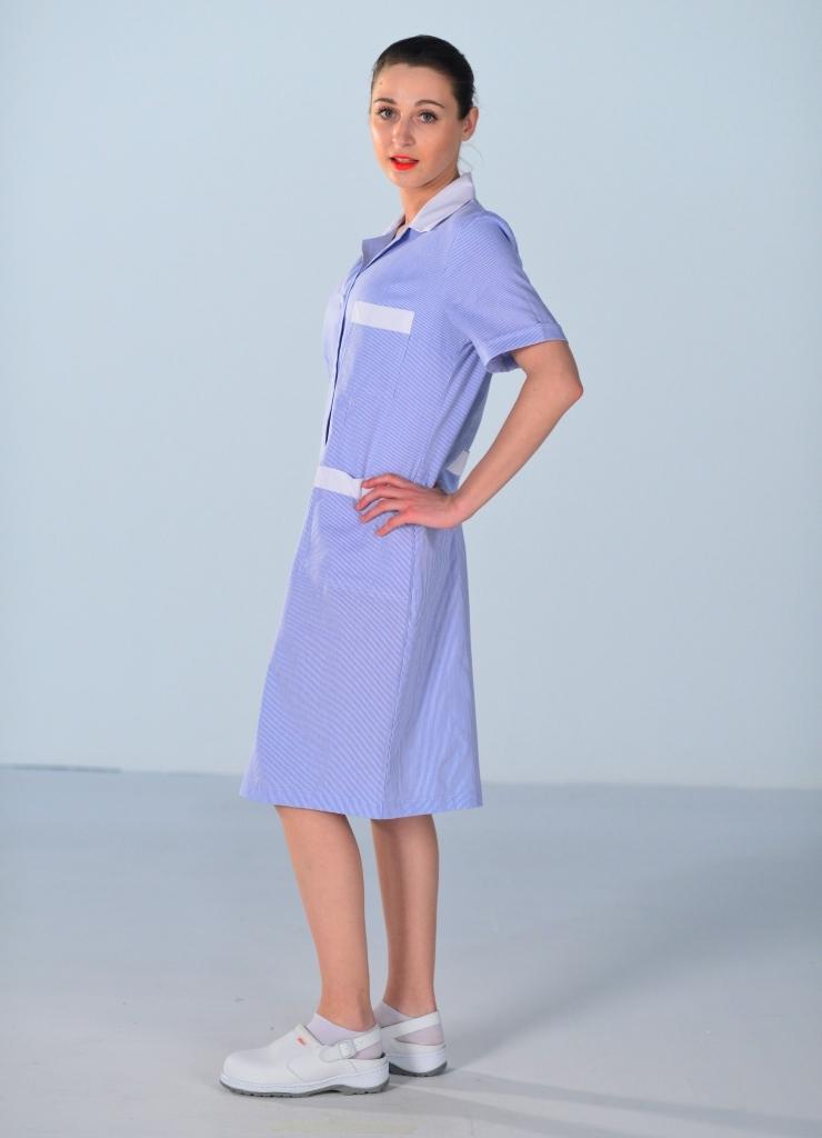Blouse de travail femme de m nage bleue blouse femme de chambre - Travail de femme de chambre ...