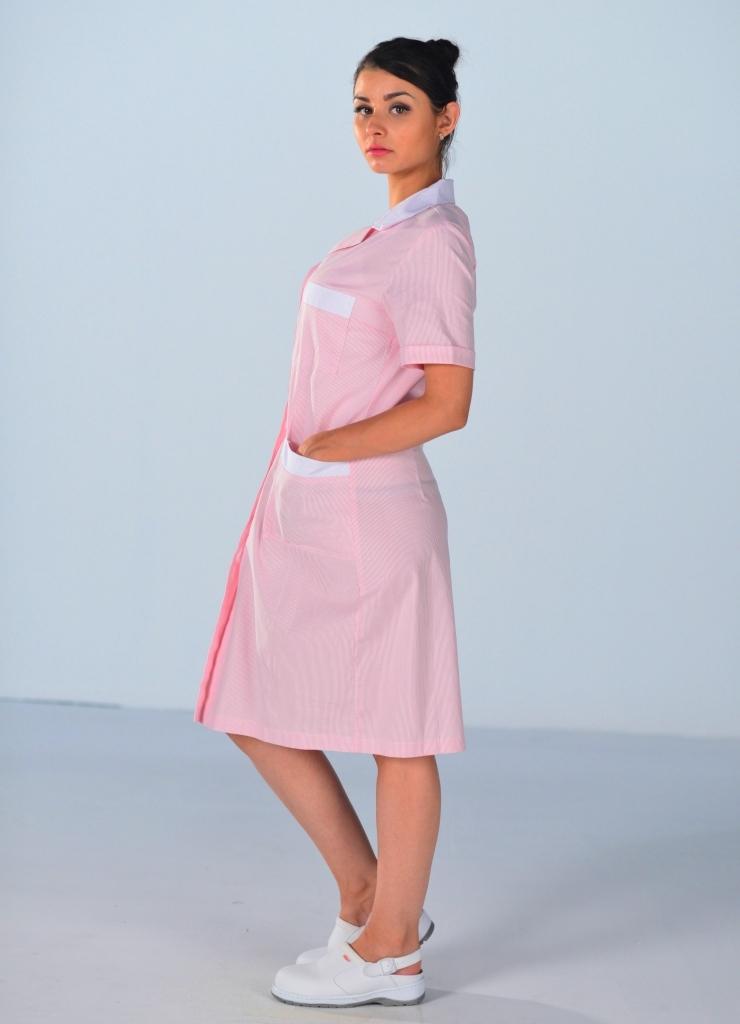 blouse de travail femme de m nage rose blouses de travail. Black Bedroom Furniture Sets. Home Design Ideas