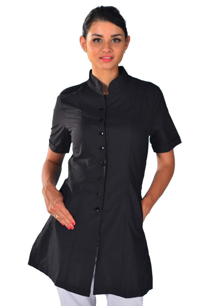 info pour 95762 6a13b Blouse esthéticienne noire SPA Beauty Look