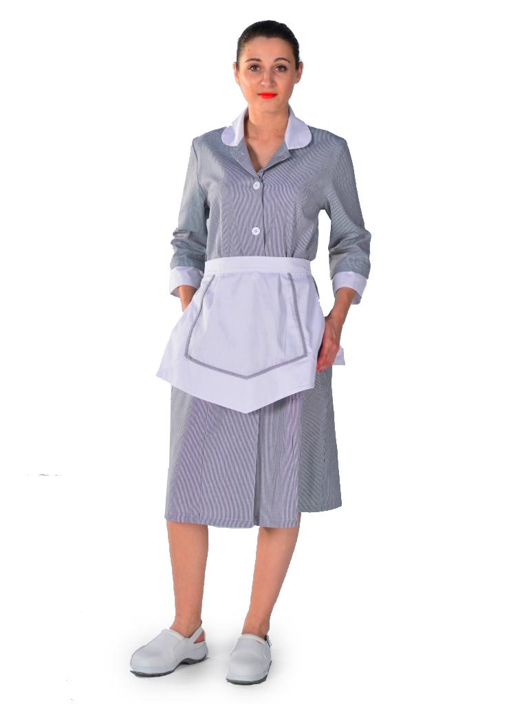 Blouse femme de chambre grise carlton uniformes d 39 hotellerie for Femme de chambre