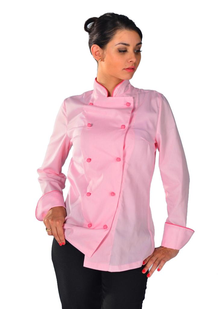 Veste De Cuisine Femme Pink Lady Vetements De Cuisine Femme