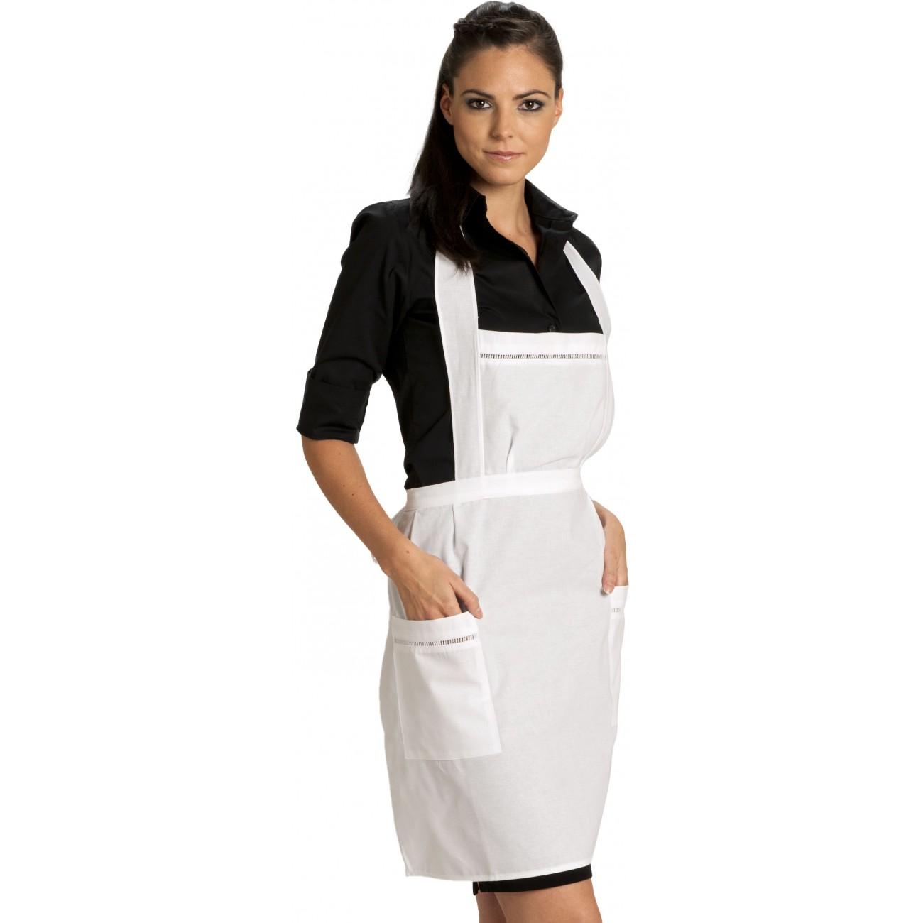 Tablier bavette broderie ajour e tablier de service - Tabliers blouse et torchons de cuisine ...
