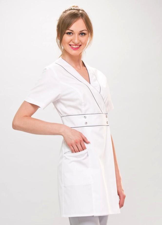 3fae4c7538 Blouse blanche esthétique Femme Wera Couture - Blouses médicales