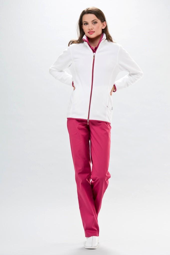 761f14ac0ae5 Veste polaire médicale Passe couloir Infirmiere Blanc rose