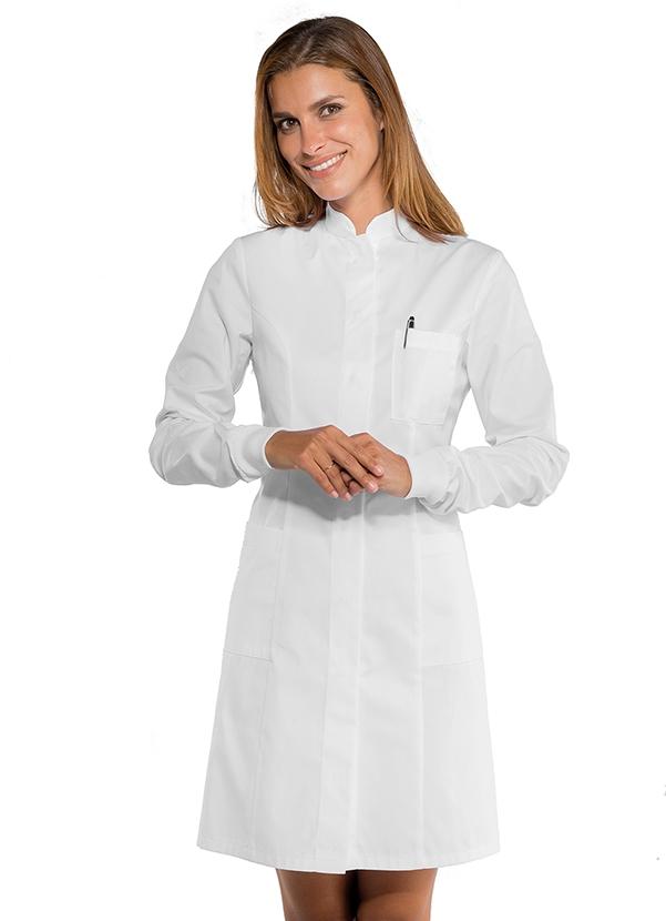 blouse blanche m dicale femme poignets tricot blouse laboratoire. Black Bedroom Furniture Sets. Home Design Ideas