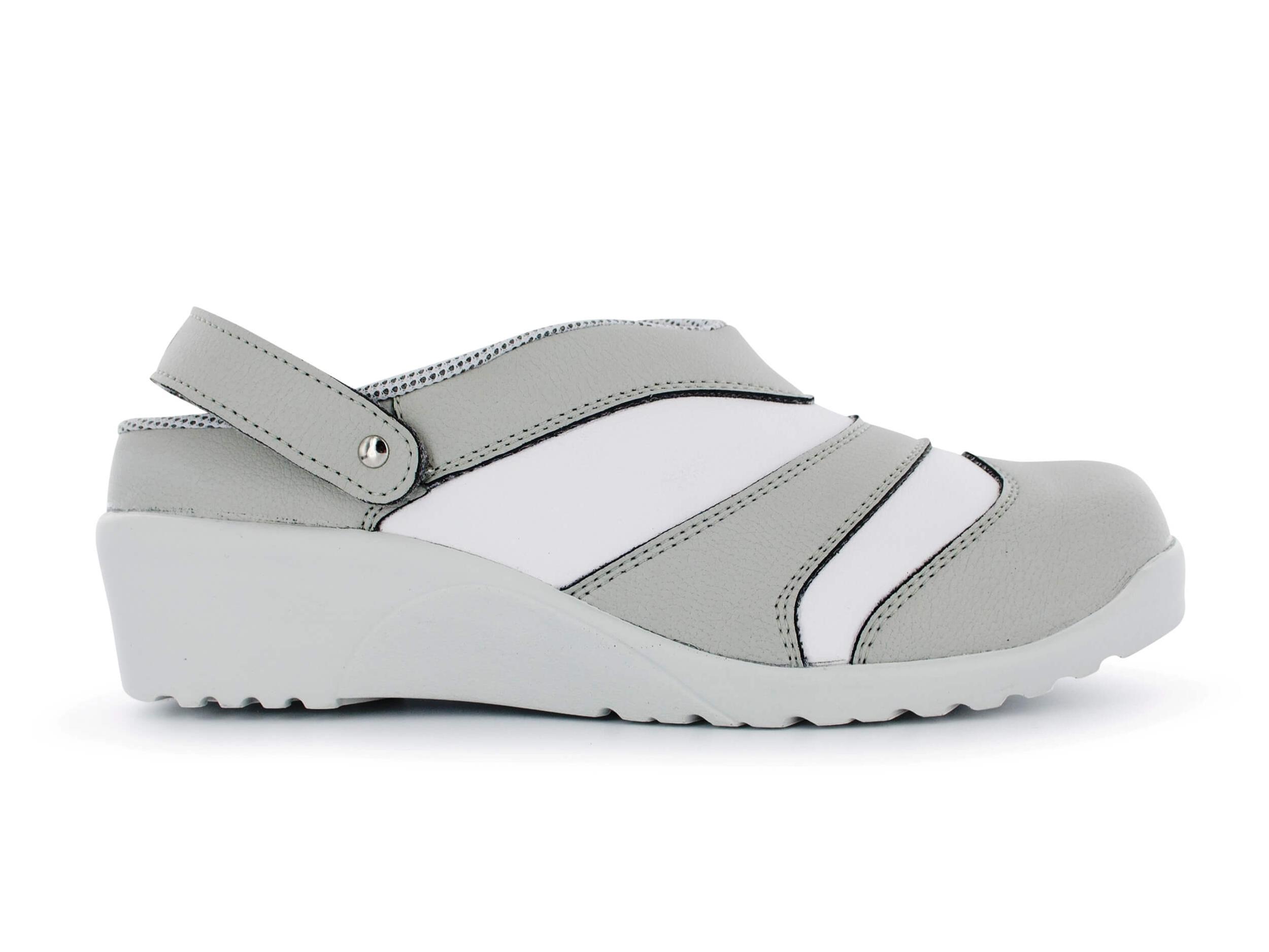 Nordways SABOT DE CUISINE FEMME ADELINE GRIS Gris - Chaussures Chaussures de travail Femme