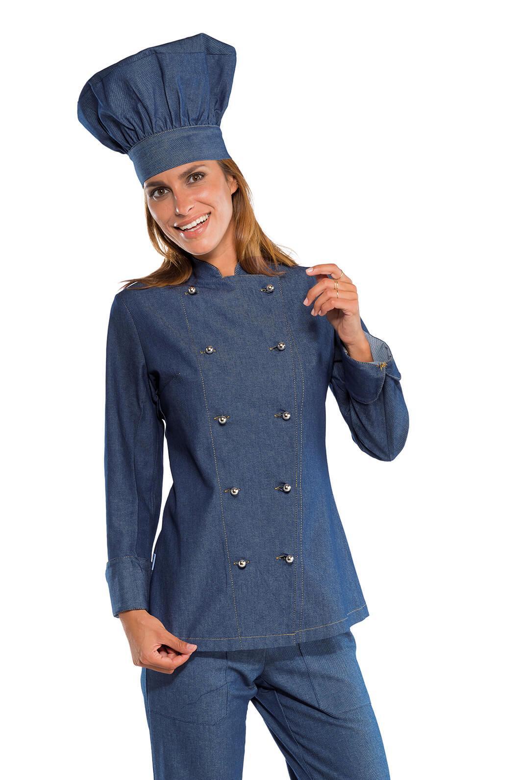 Veste De Cuisine En Jeans Pour Femme Vetements De Cuisine