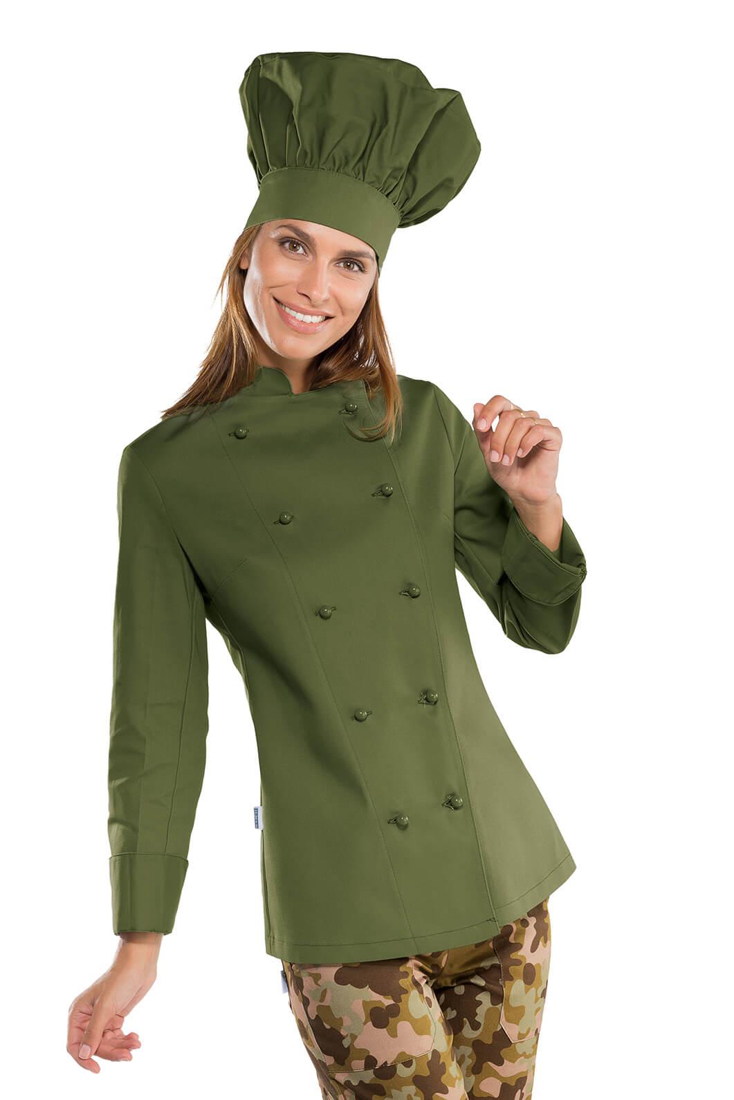 veste cuisine femme vert olive v tements de cuisine femme. Black Bedroom Furniture Sets. Home Design Ideas