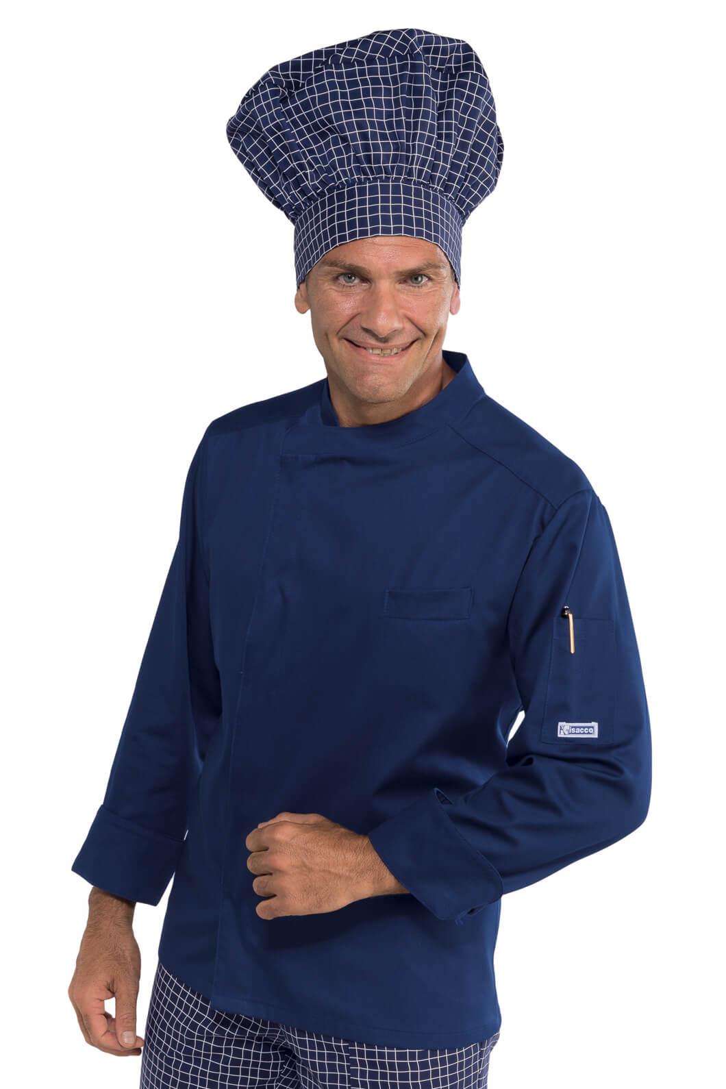 veste de cuisine bleue bilbao vestes de cuisine veste de cuisine couleur. Black Bedroom Furniture Sets. Home Design Ideas