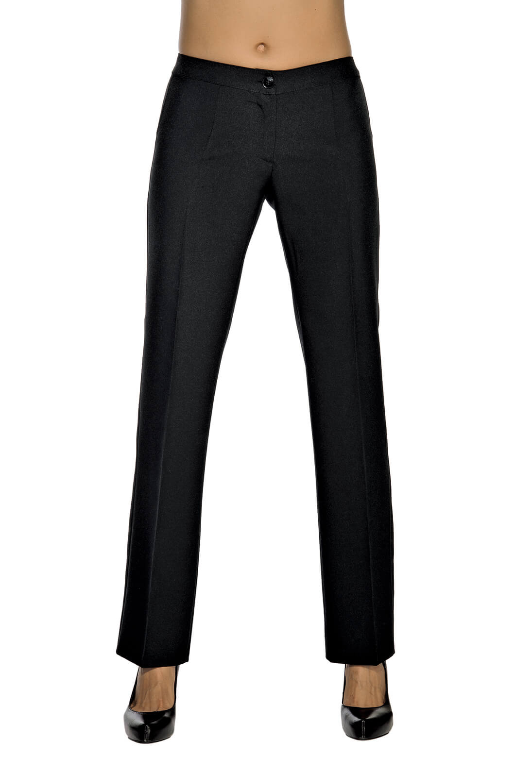 pantalon femme noir coupe droite restauration et. Black Bedroom Furniture Sets. Home Design Ideas