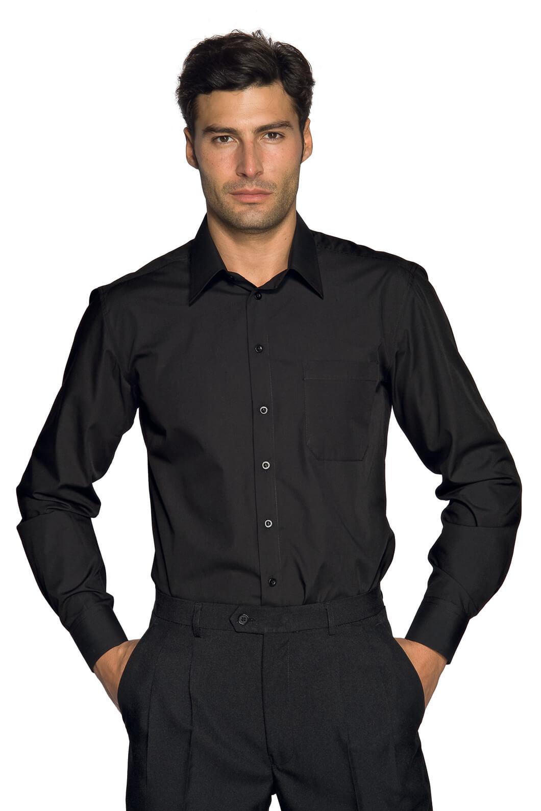 chemise homme cartagena noir restauration et r ception chemise et chemisette pour homme. Black Bedroom Furniture Sets. Home Design Ideas