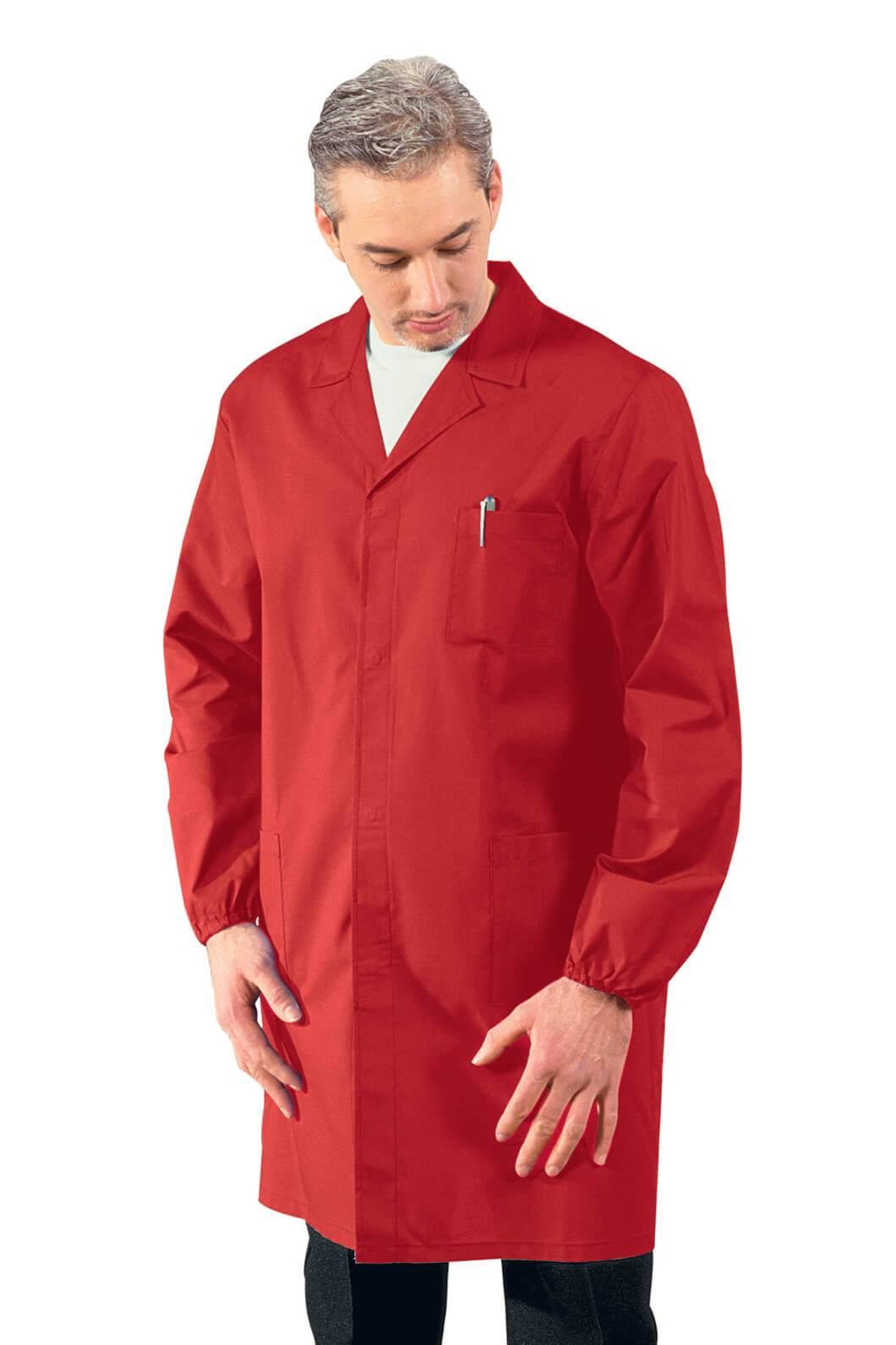 blouse m dicale homme manches longues rouge. Black Bedroom Furniture Sets. Home Design Ideas