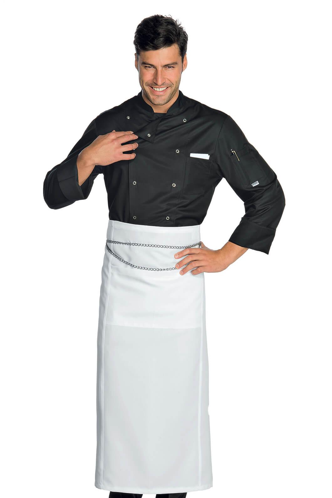 Veste chef cuisinier noir microfibres for Cuisinier particulier