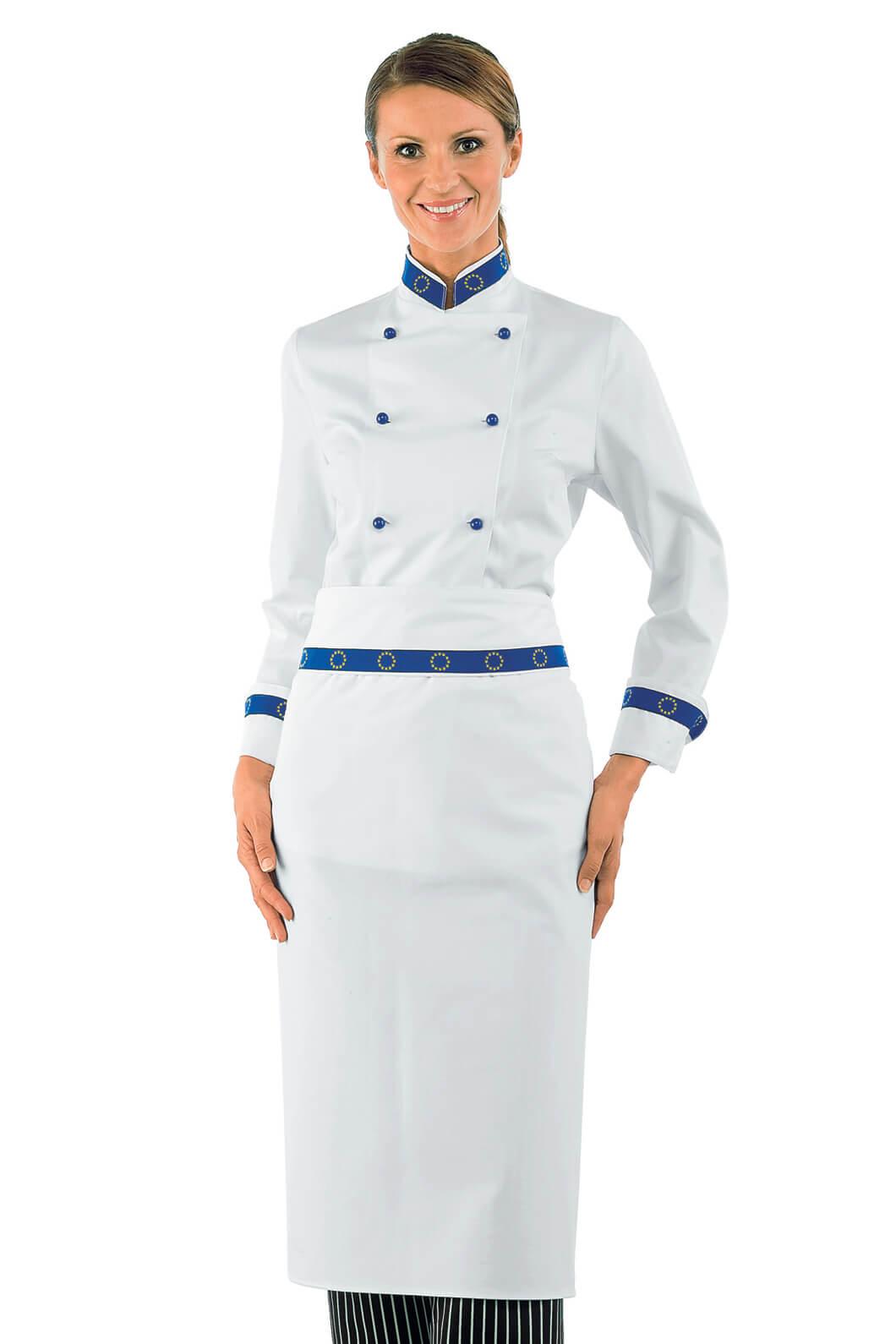 Veste de cuisine femme blanche
