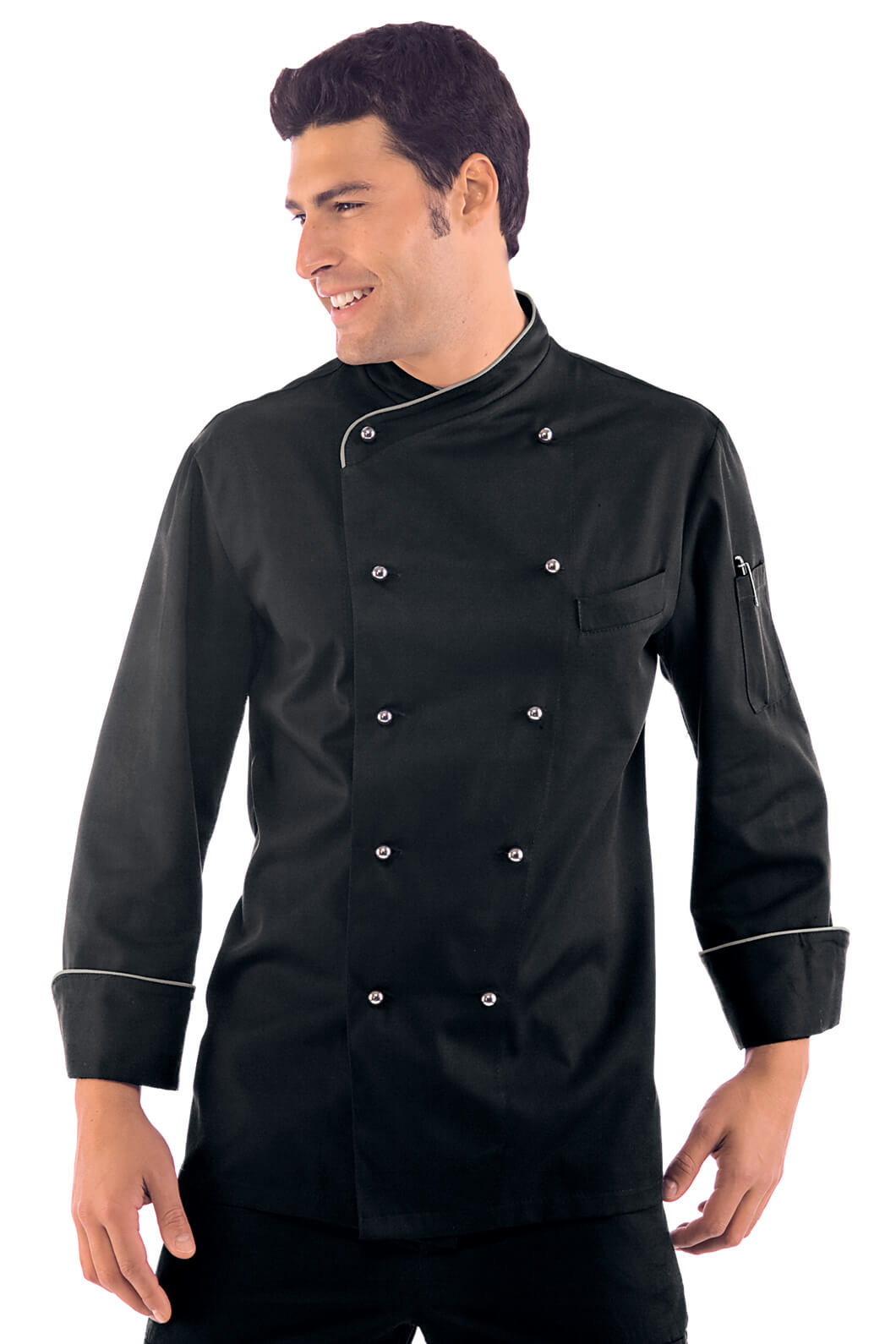 Veste chef cuisinier lima noir for Cuisinier 71