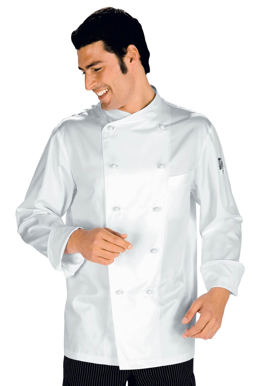 Veste chef cuisinier monaco blanc 100 coton for Cuisinier particulier