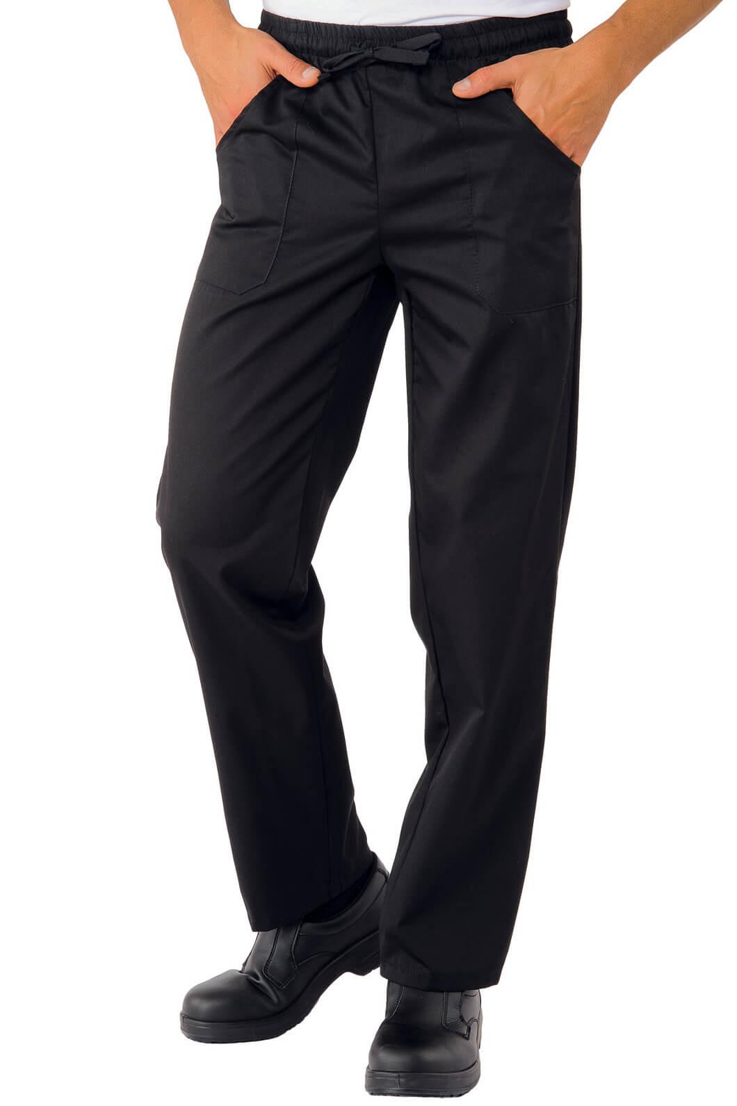 Pantalon chef cuisinier noir pantalons de cuisine for Cuisinier particulier