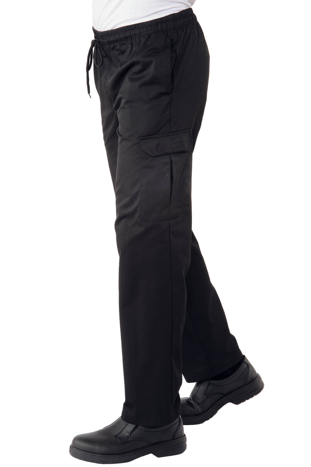 Pantalon chef cuisinier noir pantalons de cuisine for Cuisinier 71