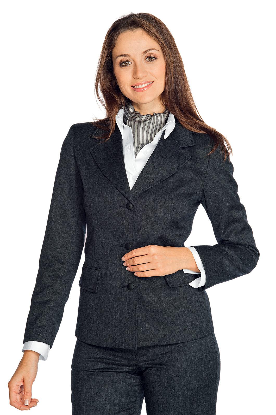 veste femme mi saison portland anthracite hotellerie tailleur uniforme femme. Black Bedroom Furniture Sets. Home Design Ideas