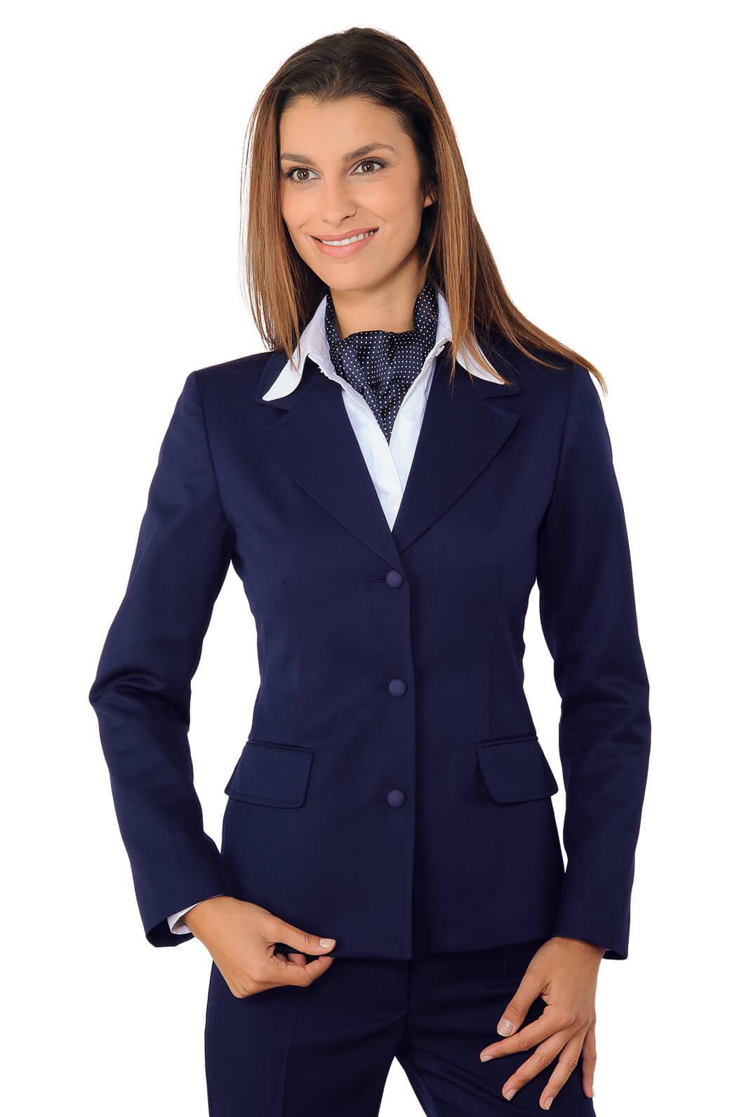 veste mi saison femme portland bleu hotellerie tailleur. Black Bedroom Furniture Sets. Home Design Ideas