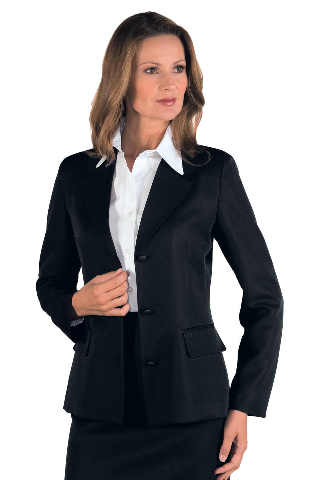 veste femme mi saison portland noir hotellerie tailleur uniforme femme. Black Bedroom Furniture Sets. Home Design Ideas