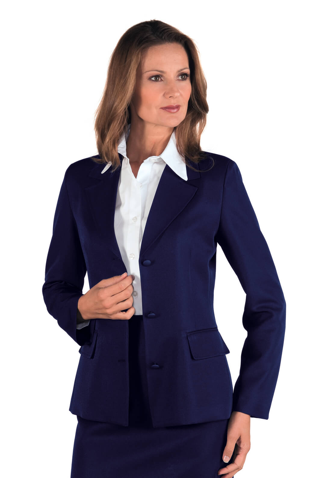veste femme mi saison portland bleu hotellerie tailleur uniforme femme. Black Bedroom Furniture Sets. Home Design Ideas