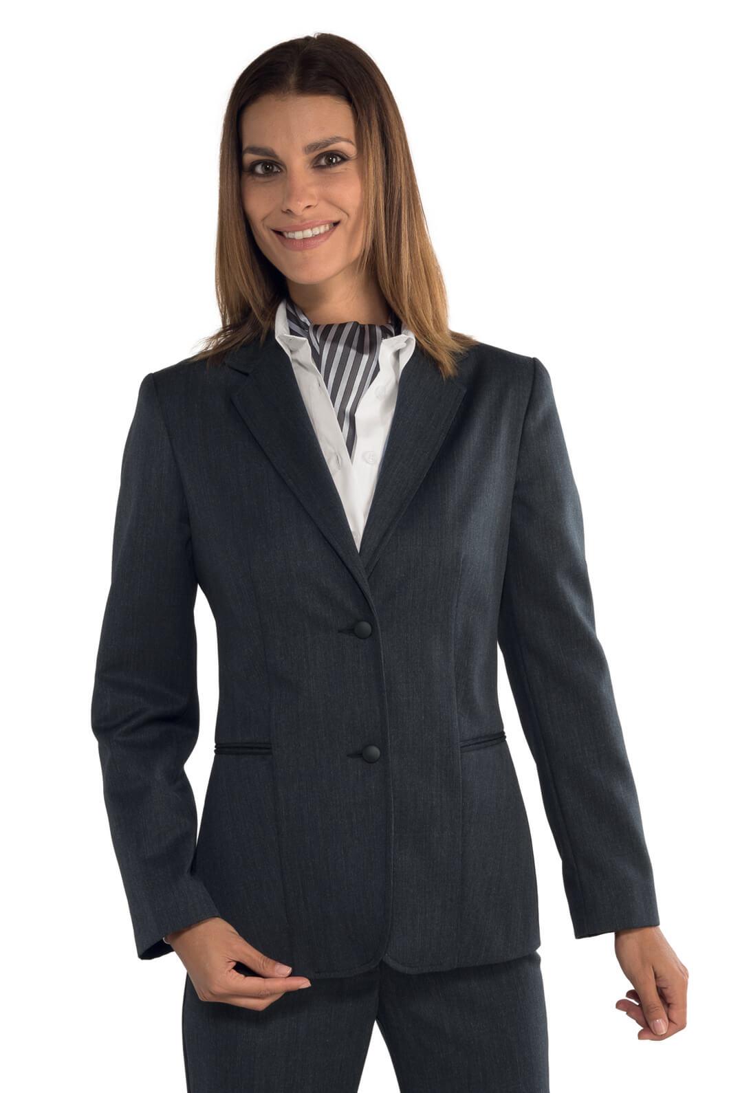 veste femme mi saison liberty anthracite hotellerie tailleur uniforme femme. Black Bedroom Furniture Sets. Home Design Ideas