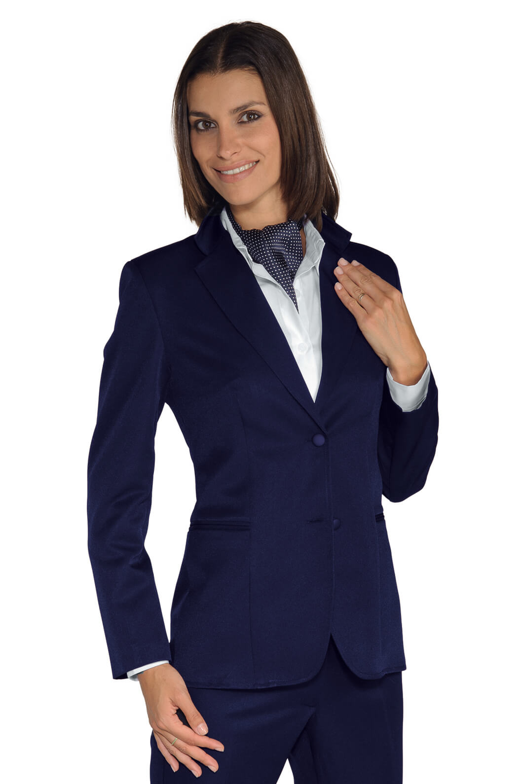 veste femme mi saison liberty bleu hotellerie tailleur uniforme femme. Black Bedroom Furniture Sets. Home Design Ideas