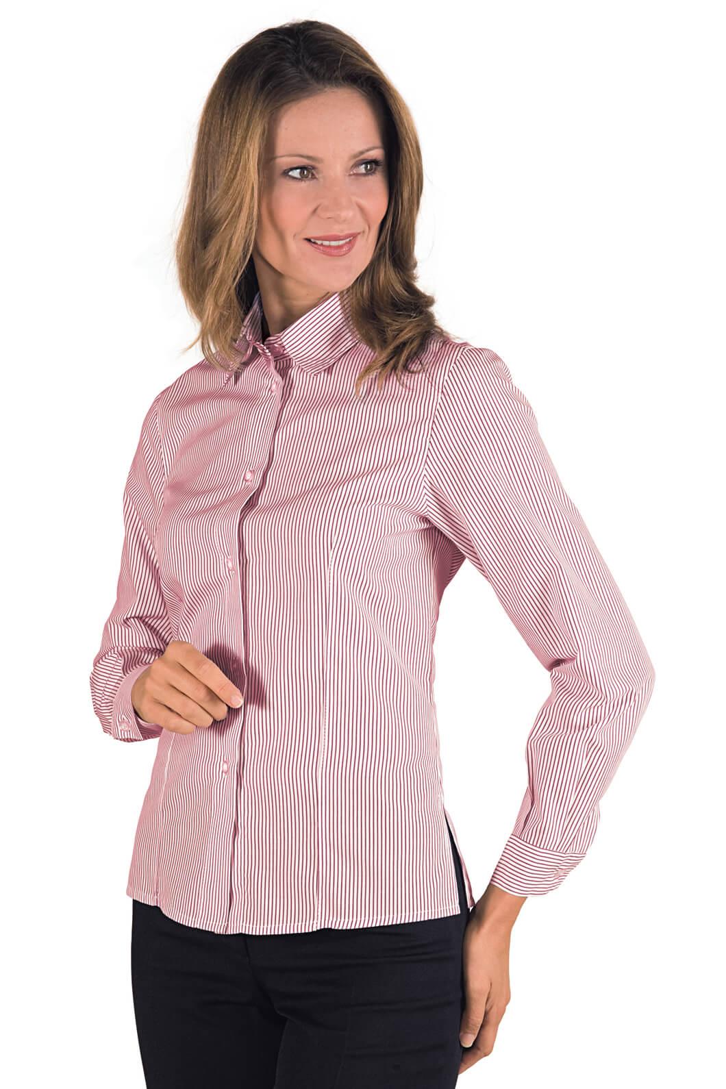 chemise femme manches longues kyoto blanc ray bordeaux. Black Bedroom Furniture Sets. Home Design Ideas