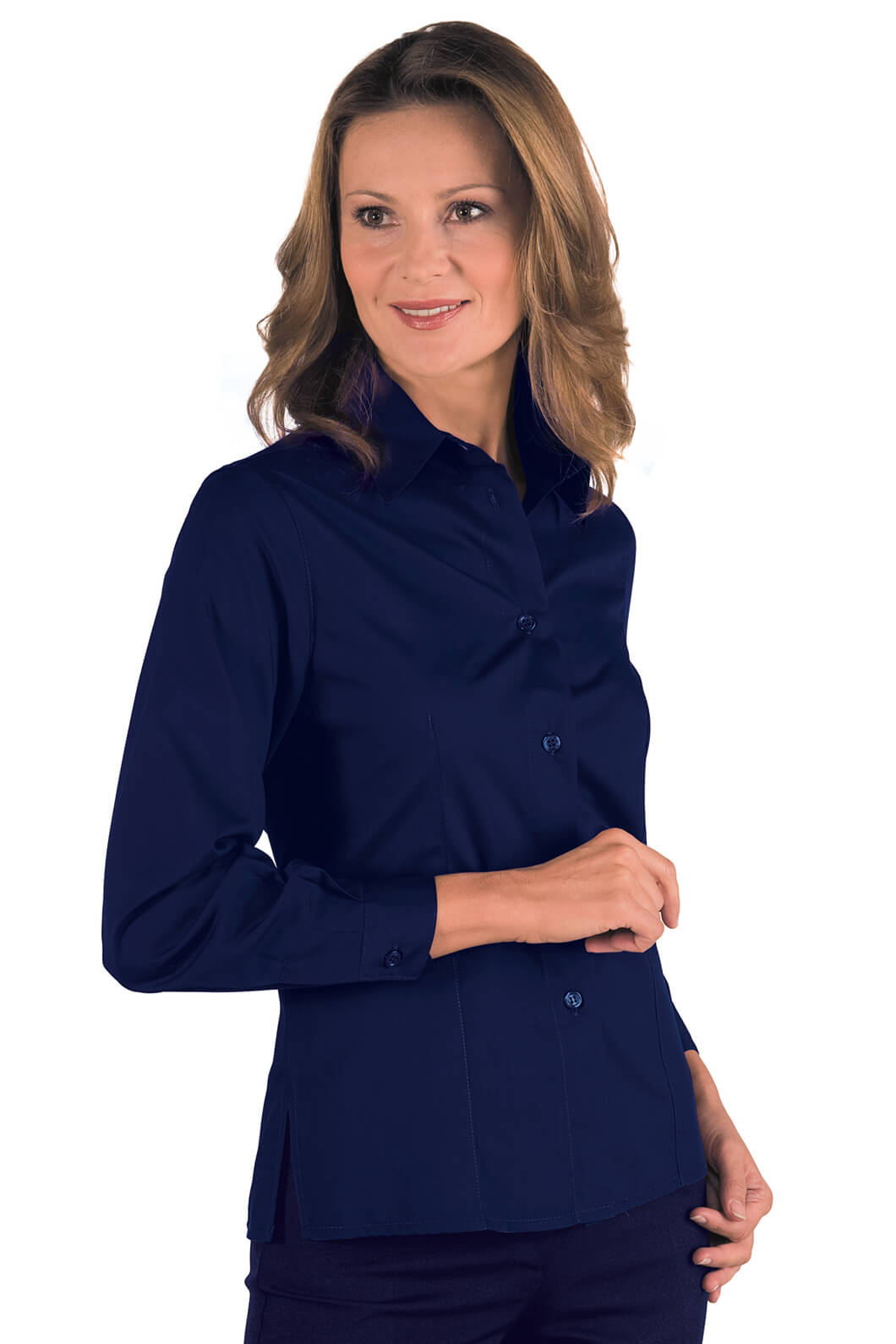 chemise femme manches longues kyoto bleu. Black Bedroom Furniture Sets. Home Design Ideas