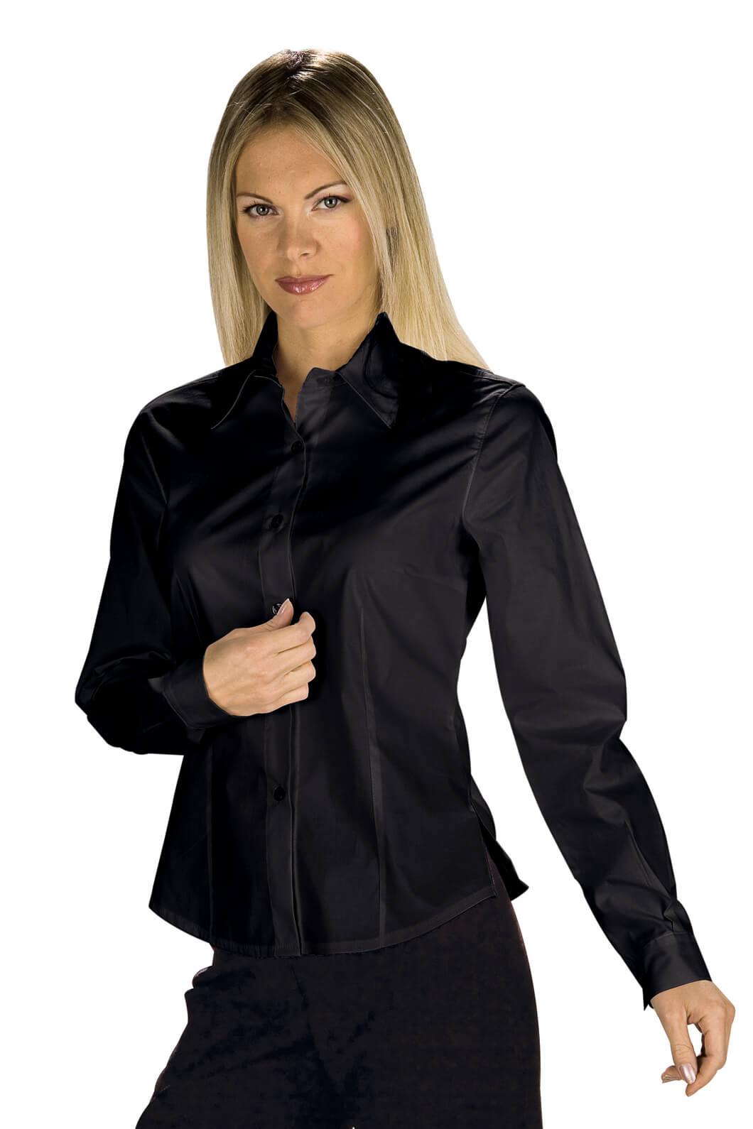 chemise femme manches longues kyoto noir. Black Bedroom Furniture Sets. Home Design Ideas