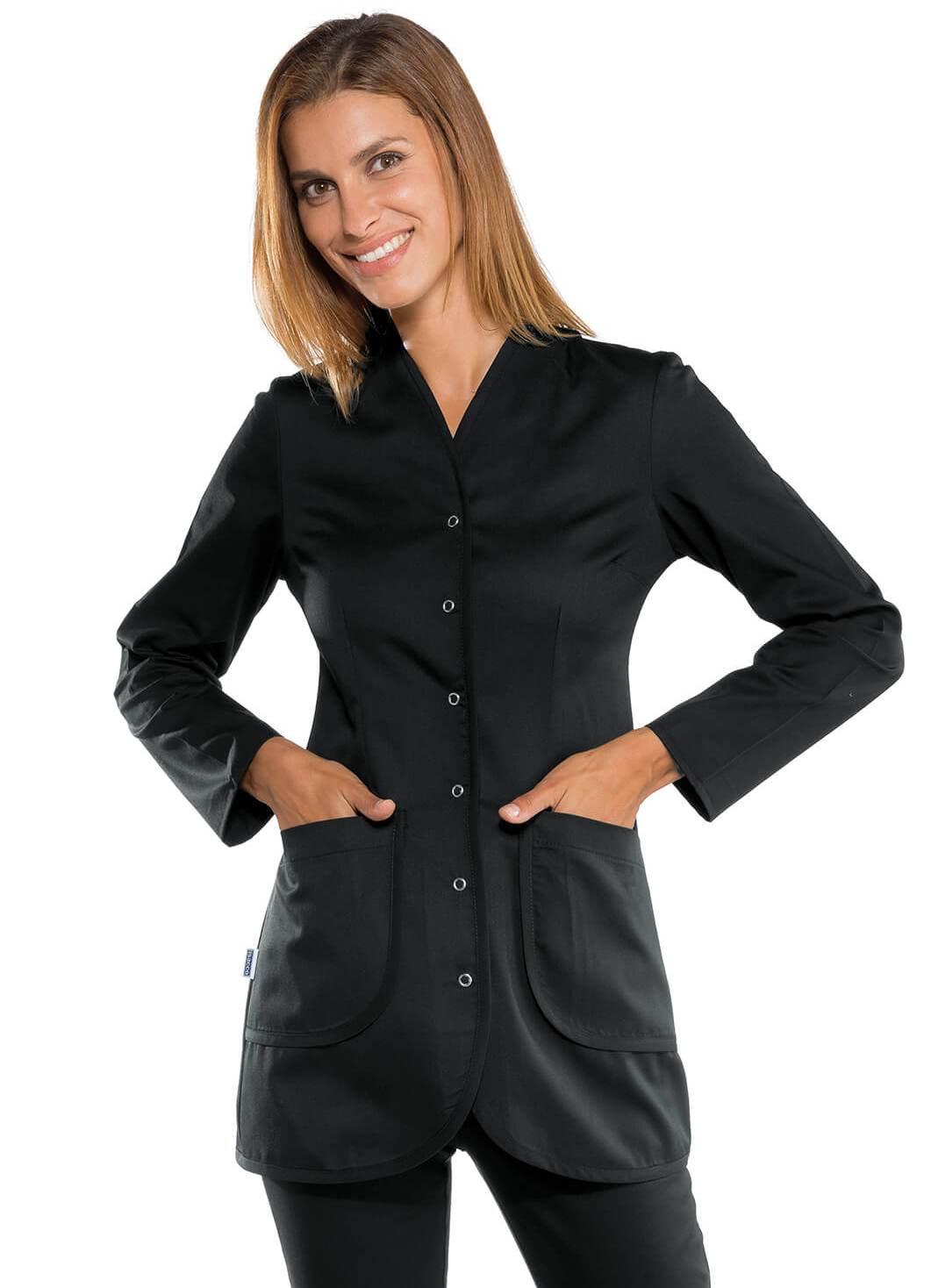 blouse de travail noire blouses m dicales femme pas cheres. Black Bedroom Furniture Sets. Home Design Ideas