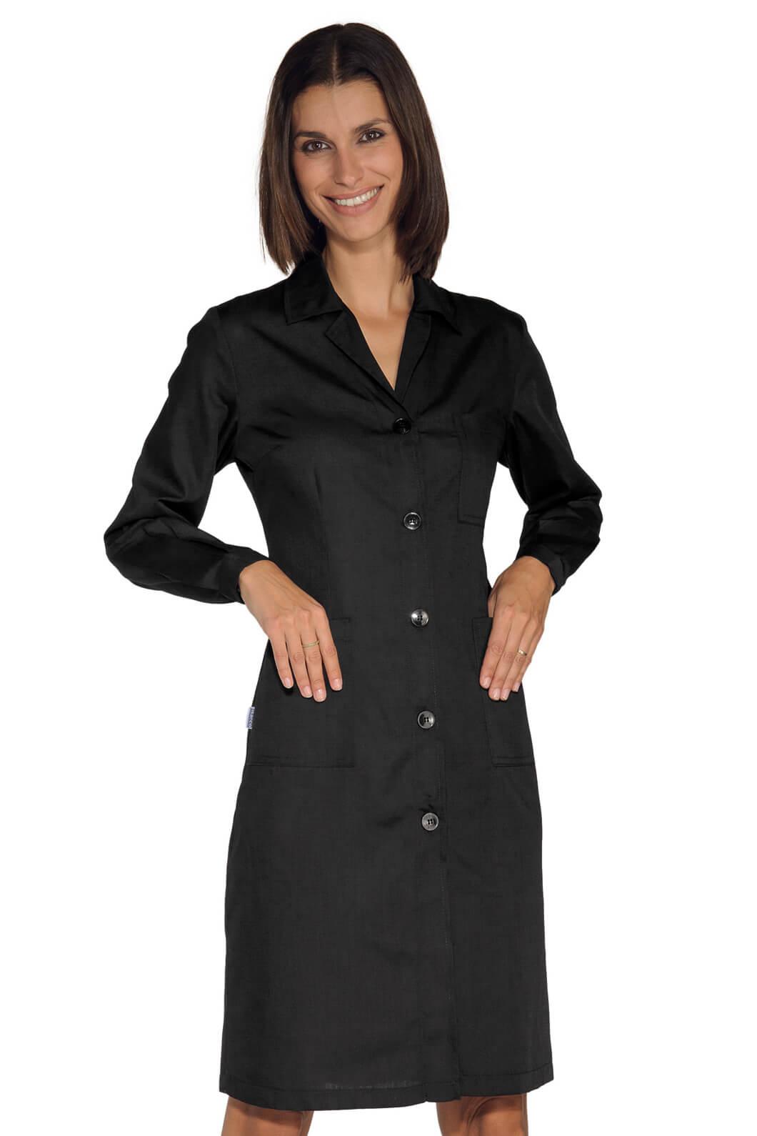 blouse de travail femme manches longues noire. Black Bedroom Furniture Sets. Home Design Ideas