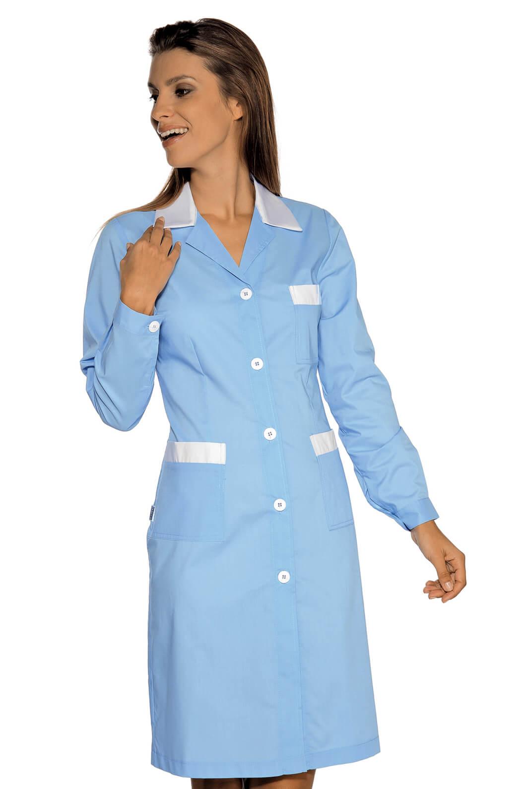 blouse de travail manches longues positano bleu blanc. Black Bedroom Furniture Sets. Home Design Ideas