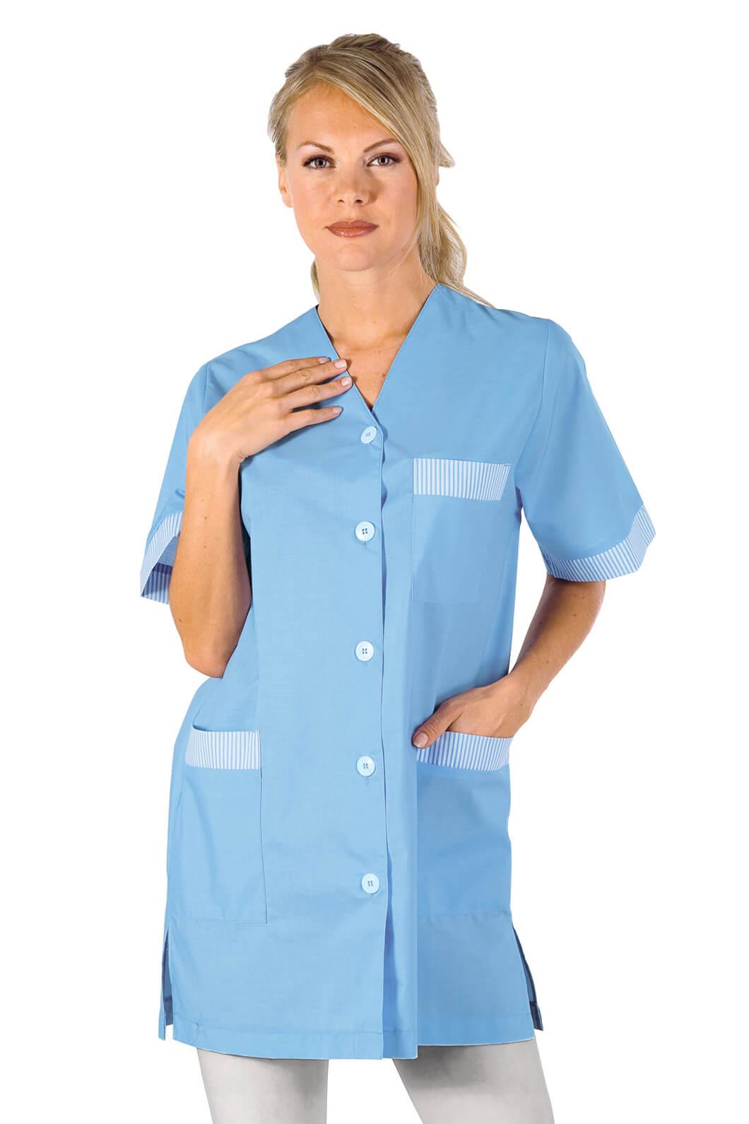 blouse de travail dacca bleu. Black Bedroom Furniture Sets. Home Design Ideas