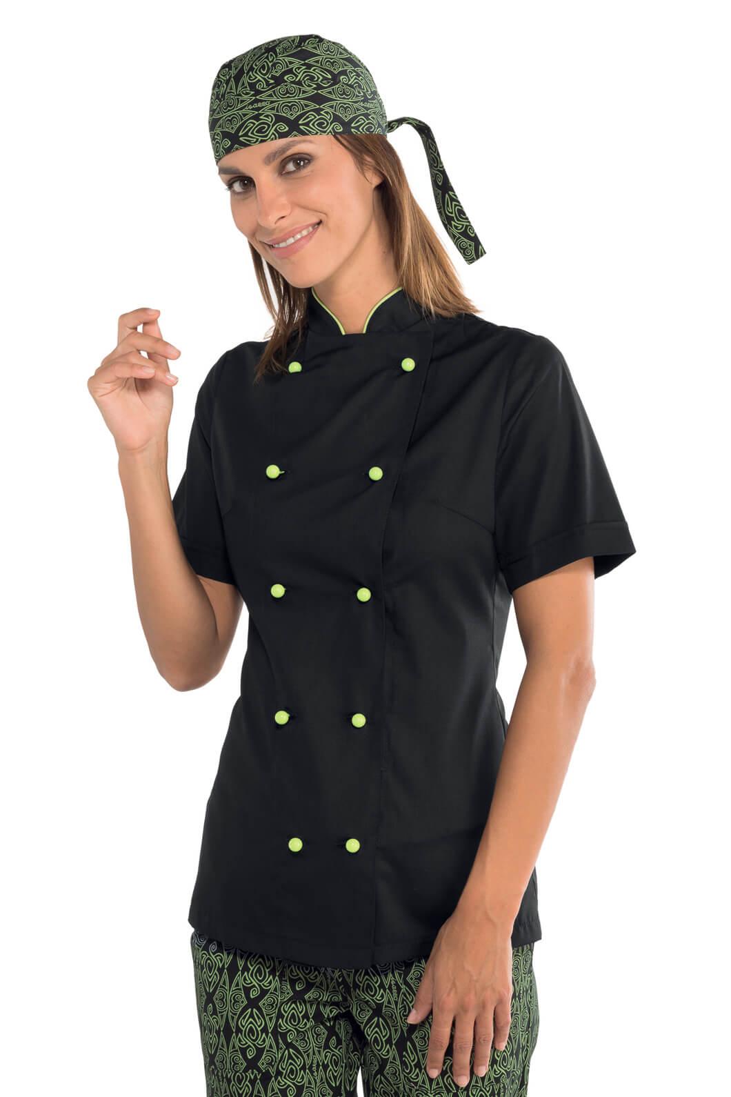 Veste Cuisine Pour Noire Extra De Tissu Femme Léger Vestes 6B76xZwq