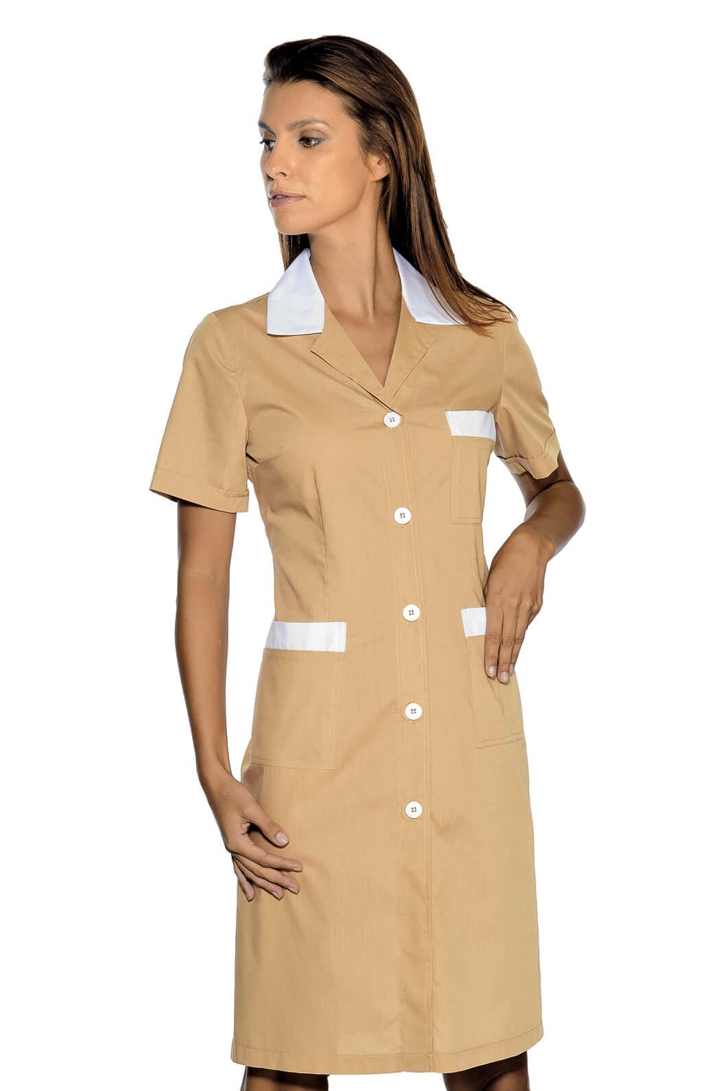 blouse de travail manches courtes positano biscuit blanc. Black Bedroom Furniture Sets. Home Design Ideas