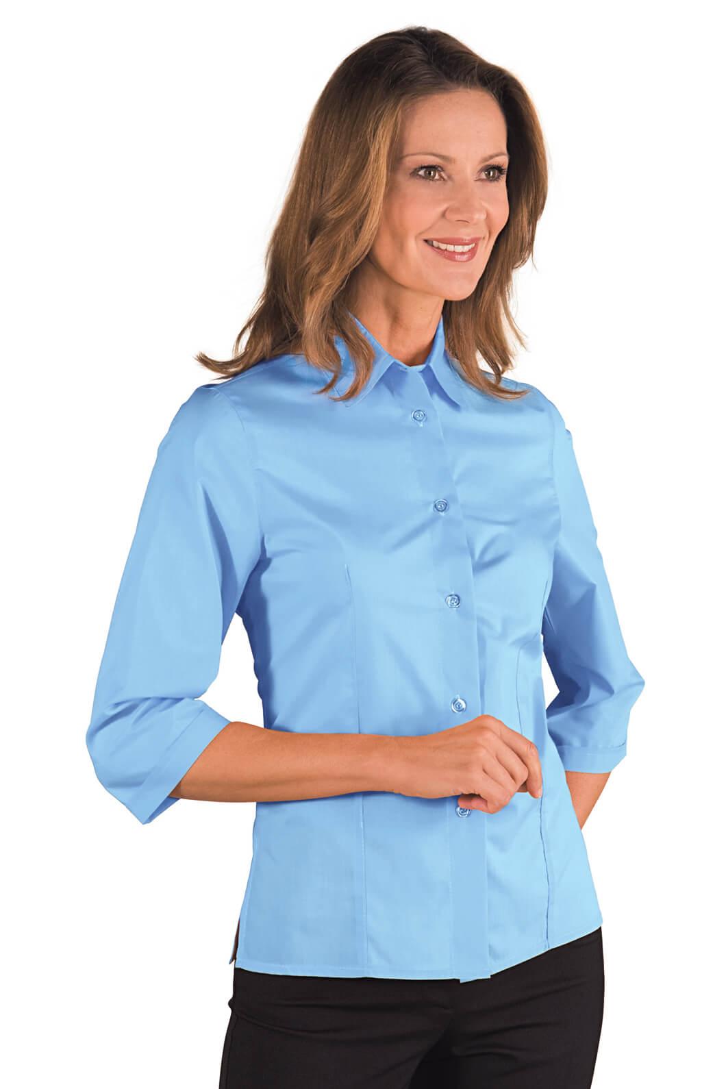 chemise femme kyoto manches 3 4 bleu ciel. Black Bedroom Furniture Sets. Home Design Ideas