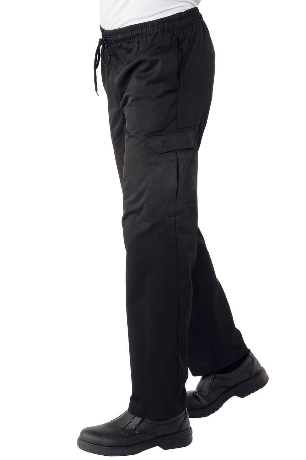 Pantalon chef cuisinier 4xl noir for Cuisinier 95