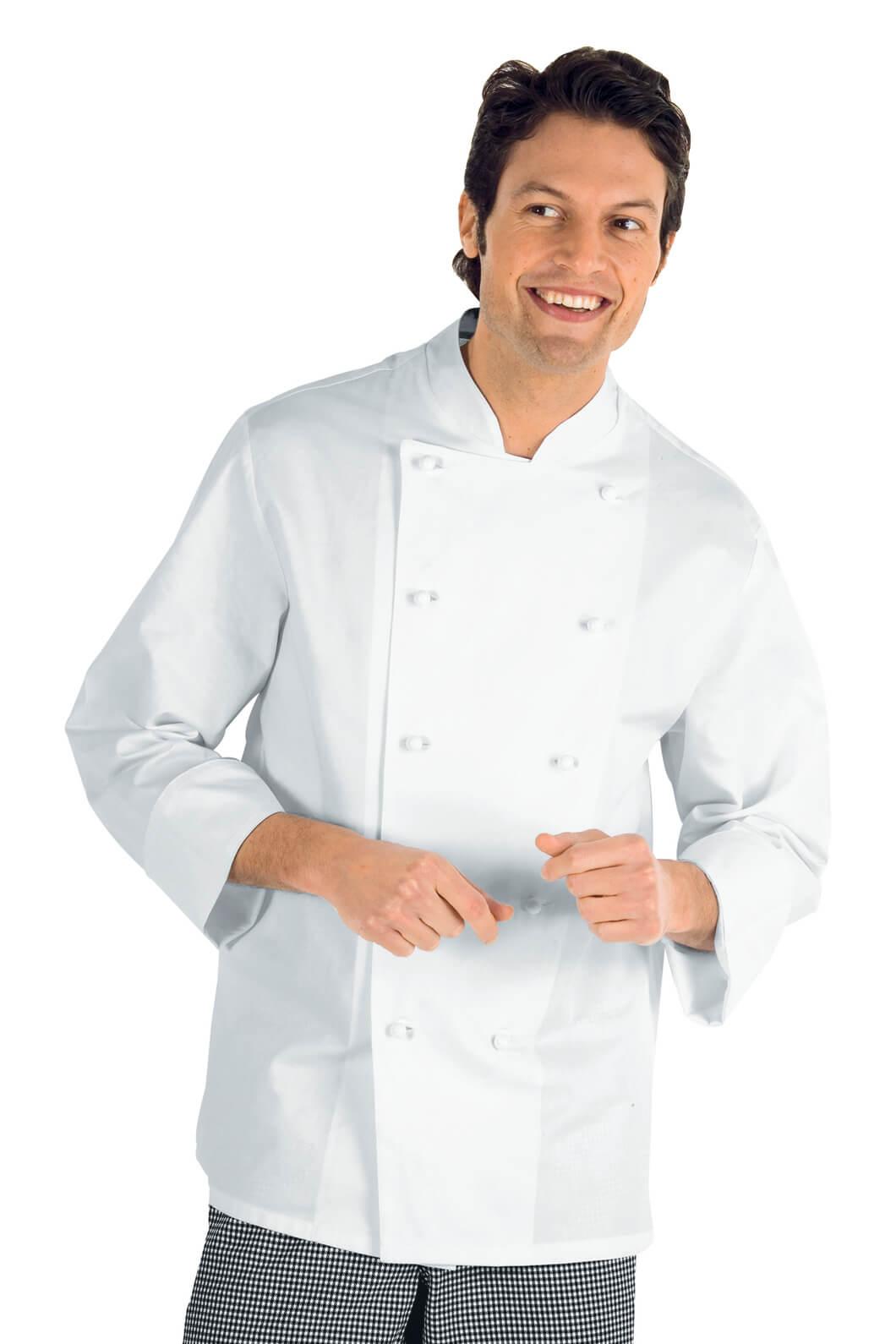 Veste chef cuisinier 5xl livorno blanc 100 coton vestes for Cuisinier 71