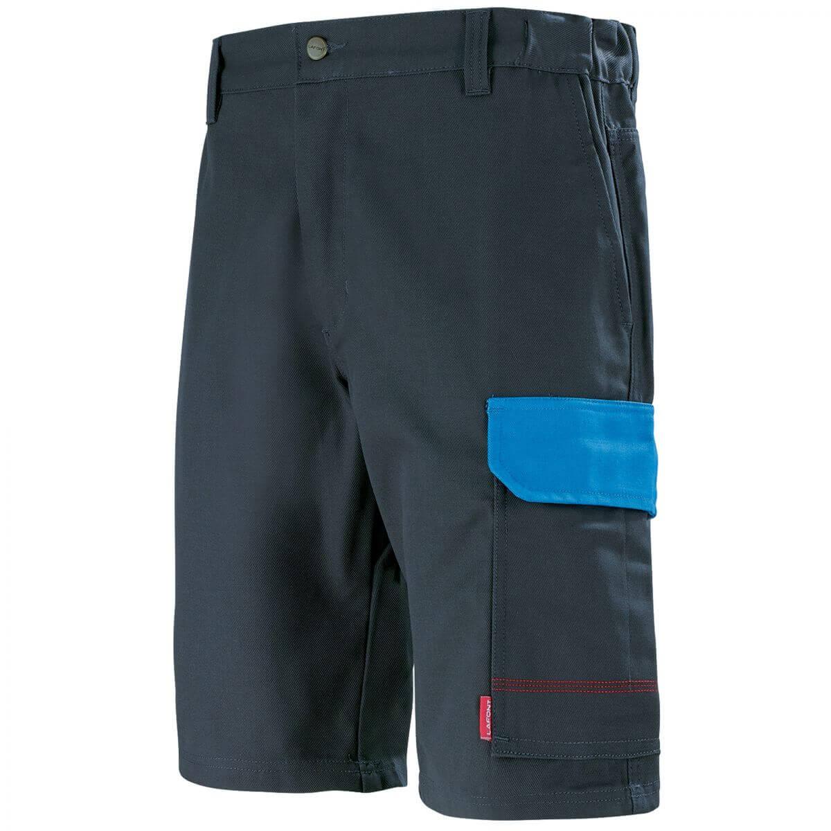 Short de travail pour homme gris charbon et bleu azur short de travail - Short de travail homme ...