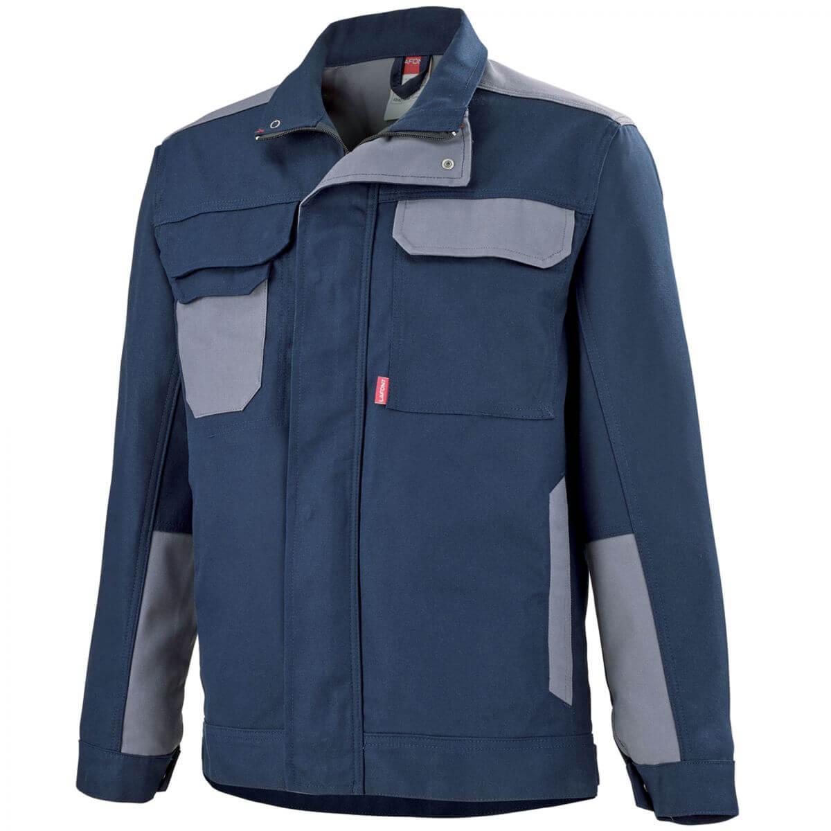blouson de travail bleu marine et gris adolphe lafont vestes et blousons de travail. Black Bedroom Furniture Sets. Home Design Ideas