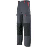 Pantalon de travail Homme charbon et rouge
