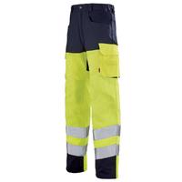 Pantalon haute visibilité  jaune hivi / bleu marine pupil