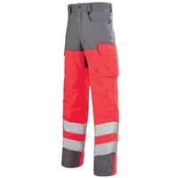 Pantalon de travail rouge hivi / gris acier