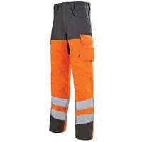 Pantalon de travail orange hivi / gris