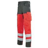 Pantalon de travail rouge hivi / gris