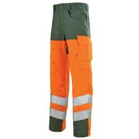 Pantalon de sécurité Homme orange hivi et vert