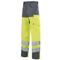 Pantalon de sécurité Hivi jaune et gris acier A.Lafont