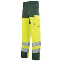 Pantalon de travail Haute visibilité jaune et vert